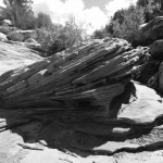 Sandstone rock piles
