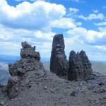 spires near the top