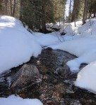 Flowing Water and Snow