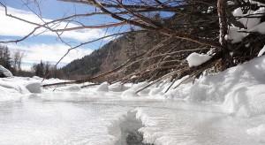 Frozen La Plata River